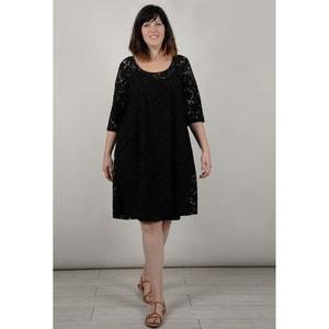 Langärmeliges Kleid in A-Linie, unifarben GABRIELLE BY MOLLY BRACKEN