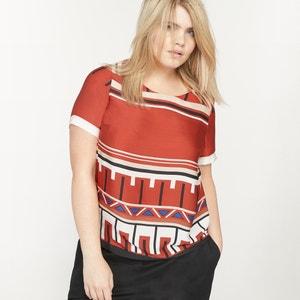 Short-Sleeved Printed Blouse CASTALUNA