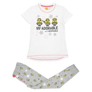 Pyjama fille 2 pièces, 4 - 8 ans LES MINIONS