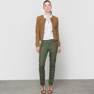 Pantalon lin 7/8, poches italiennes atelier R