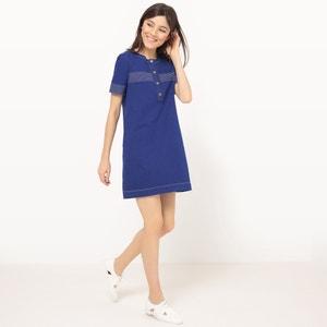 Granddad Style Denim Dress MADEMOISELLE R