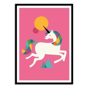 Affiche Bébé Licorne WALL EDITIONS