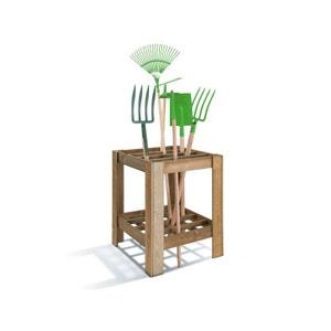 Range-outils de jardin en pin sylvestre JARDIPOLYS