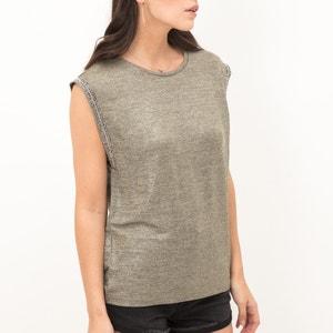 Effen T-shirt met ronde hals zonder mouwen LE TEMPS DES CERISES