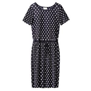 Getupftes, plissiertes Midi-Kleid VILA