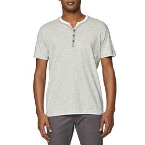 Camiseta de punto flameado