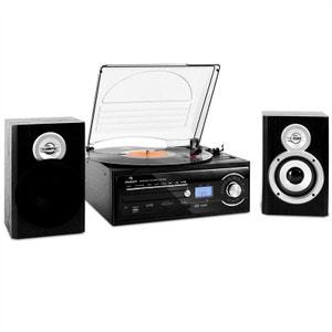 TT-190 Chaîne stereo platine enregistrement MP3 CD USB K7 AUNA