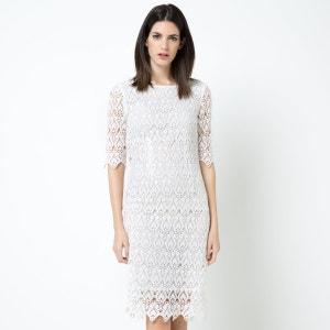 Vestido em guipura puro algodão LAURA CLEMENT