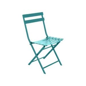 Chaise de jardin métal pliante Greensboro Emeraude HESPERIDE
