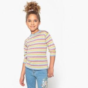 Sweter w błyszczące paski 3-12 lat La Redoute Collections