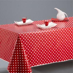 Garden Party PVC Polka Dot round Tablecloth La Redoute Interieurs