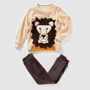 Pijama de terciopelo estampado león 2-12 años abcd'R
