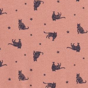 Robe molleton imprimée ''chats'' 3-12 ans La Redoute Collections