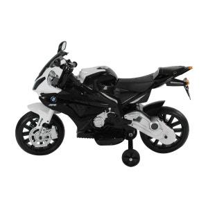Moto électrique BMW pour enfant double moteur en PP noir et blanc - HOMCOM BMW