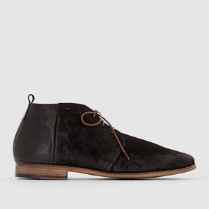 Sapatos derbies de cano subido Zepi, com atacadores, em pele, fabricados em França KOST