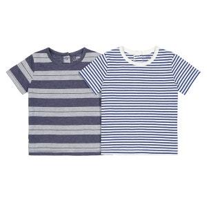 Lot de 2 tshirts rayés - 1 mois - 3 ans Oeko Tex La Redoute Collections