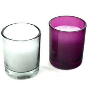 Lot de 2 bougies en pot de verre COMPTOIR DES BOUGIES