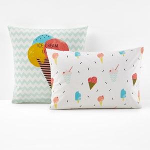 Funda de almohada estampada, Ice cream lover La Redoute Interieurs
