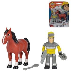 Figurines Sam le pompier : Sam et cheval SMOBY