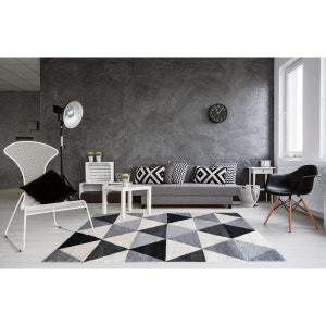 Tapis géométrique style scandinave gris pour salon Gomi ALLOTAPIS