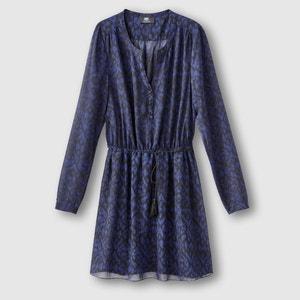 Bedrucktes Kleid, Henley-Ausschnitt LE TEMPS DES CERISES