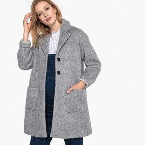 Abrigo 3/4 de embarazo, lana mezclada