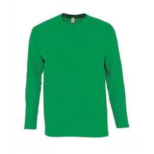 T-shirt à manches longues 100% coton  Monarch, pour homme (S-2XL) SOLS