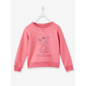 Sweat-shirt fille motif château de princesse VERTBAUDET