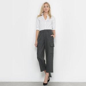 Spodnie bojówki flanelowe La Redoute Collections