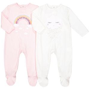 Lot de 2 pyjamas en coton 0 mois – 3 ans La Redoute Collections