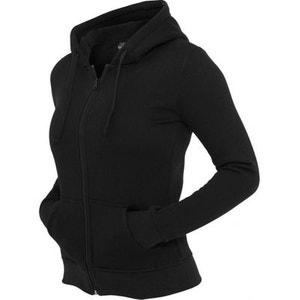 Sweat zippé URBAN CLASSICS Ladies Noir molleton à capuche URBAN CLASSICS