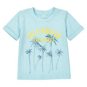 T-Shirt mit Rundhalsausschnitt und Palmen-Motiv, 1 Monat - 3 Jahre La Redoute Collections
