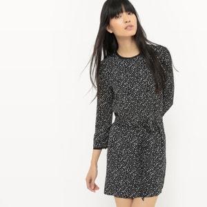 Kleid, kurze Form, 3/4-Ärmel, bedruckt SUNCOO