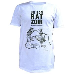 T-Shirt homme style imprimé Rasoir PHILEMON
