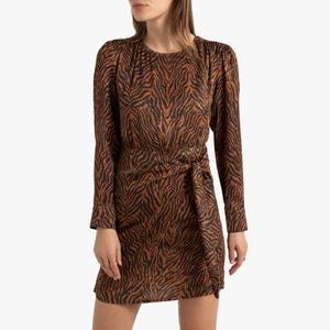 Korte jurk met zebra motief