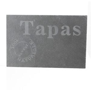 Assiette à tapas en ardoise - 20 x 30 cm - Piment SECRET DE GOURMET