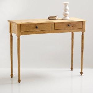 Консоль с 2 ящиками из массива сосны, Authentic Style La Redoute Interieurs