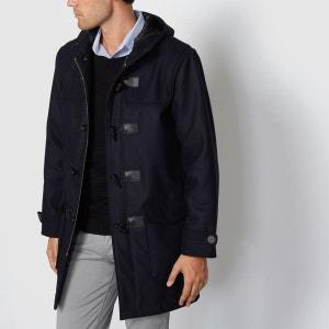 Duffle coat à capuche mi-long 60% laine R essentiel