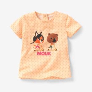 T-shirt MOUK de mangas curtas 1 mês-3 anos MOUK