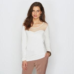 T-shirt, résille plumetis ANNE WEYBURN