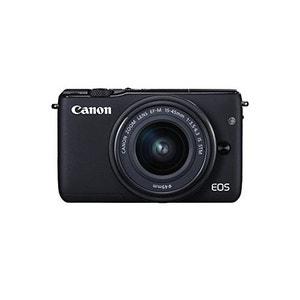 Appareil photo Canon EOS M10 KIT (15-45 mm STM) Noir, incl. Un objectif Canon 1x 18 mégapixels 100-12800 22.3 x 14.9 mm CANON