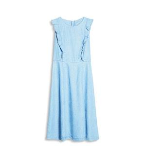 Kleid, ärmellos, Volants, Lyocell ESPRIT