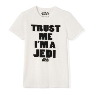 Tee shirt col rond imprimé, manches courtes STAR WARS