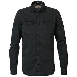 Slim hemd in stretch jeans SIL403