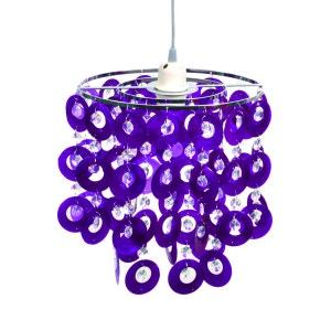 Suspension chambre BETTY violette en PVC KERIA