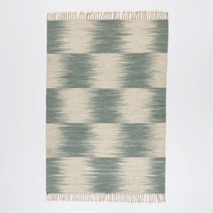 Tapis style kilim tissé à plat motif Ikat en laine Vitto AM.PM.