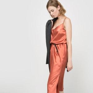 Vestido meio-comprido em cetim La Redoute Collections