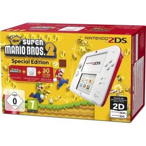 Console Nintendo 2DS Rouge & Blanc + New Super Mario Bros. 2 2DS NINTENDO