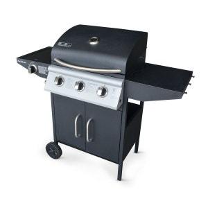 Barbecue au gaz Athos cuisine extérieure 3 brûleurs + feu latéral thermomètre ALICE S GARDEN