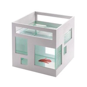 Aquarium Blanc design Hôtel 19x19x20cm UMBRA